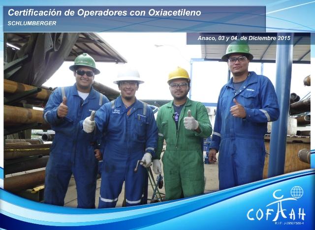 Certificación de Operadores con Oxiacetileno (SCHLUMBERGER) Anaco