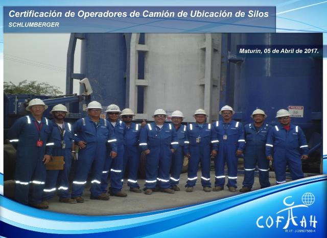 Certificación de Operadores de Camion de Ubicación de Silos (SCHLUMBERGER) Maturín