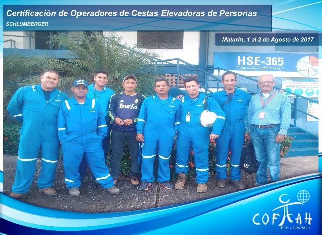 Certificación de Operadores de Cestas Elevadoras de Personas (SCHLUMBERGER) Maturín