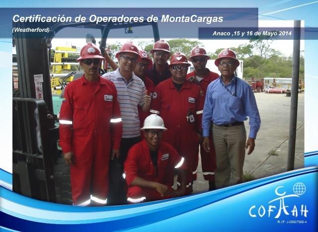 Certificación de Operadores con Montacargas (WEATHERFORD) Anaco