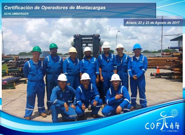 Certificacion de Operadores de Montacargas (SCHLUMBERGER) Anaco