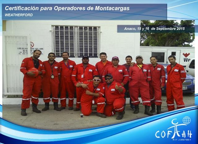 Certificación para Operadores de Montacargas (WEATHERFORD) Anaco