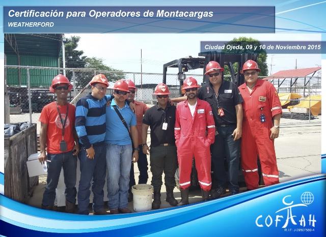 Certificación para Operadores de Montacargas (WEATHERFORD) Ciudad Ojeda