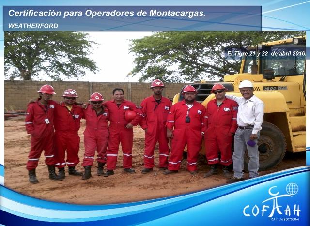 Certificación para Operadores de Montacargas (WEATHERFORD) El Tigre