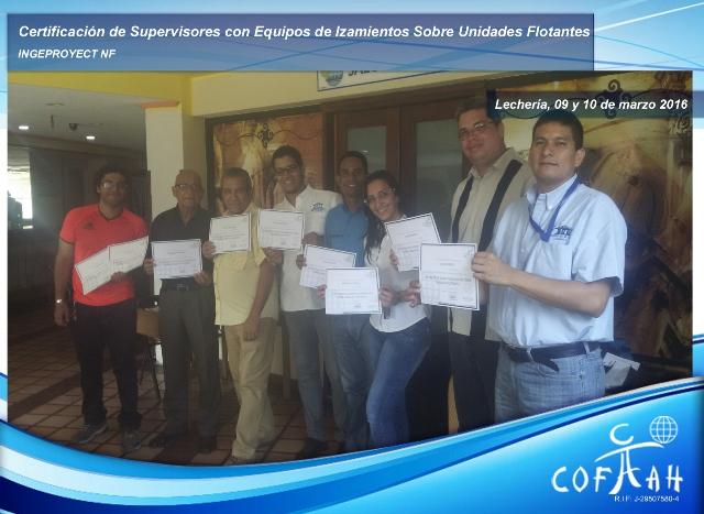 Certificación de Supervisores con Equipos de Izamientos sobre Unidades Flotantes (INGEPROYECT) Lecherías