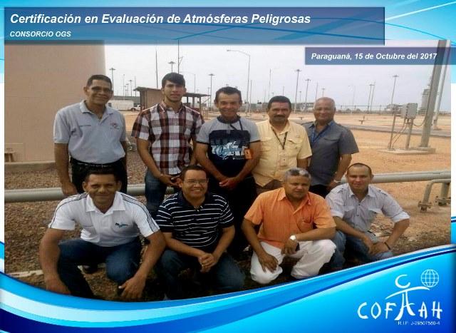 Certificación en Evaluación de Atmósferas Peligrosas (OGS) Paraguaná