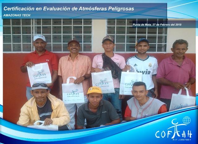 Certificación en Evaluación de Atmósferas Peligrosas (AMAZONAS TECH) Punta de Mata