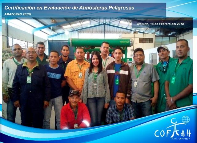 Certificación en Evaluación de Atmósferas Peligrosas (AMAZONAS TECH) Maturín