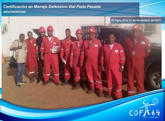 Certificación en Manejo Defensivo  Vial - Flota Pesada (WEATHERFORD) El Tigre