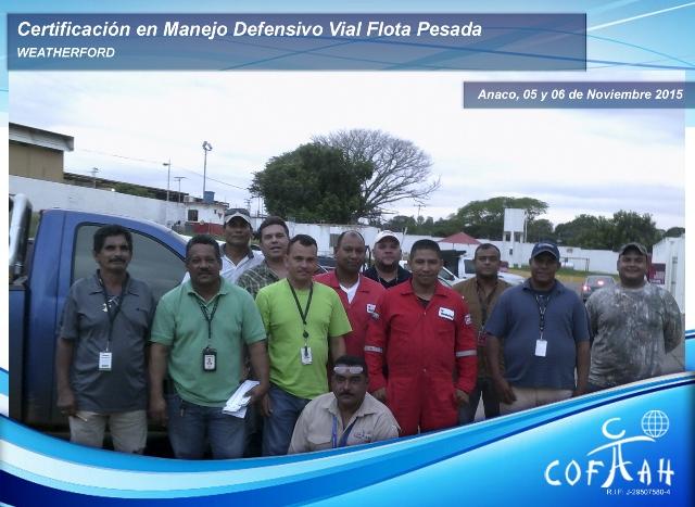 Certificación en Manejo Defensivo Vial Flota Pesada (WEATHERFORD) Anaco