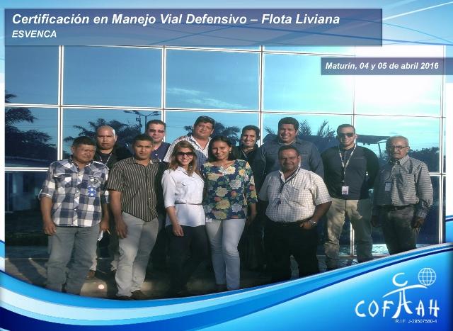 Certificación en Manejo Vial Defensivo - Flota Liviana (ESVENCA) Maturín