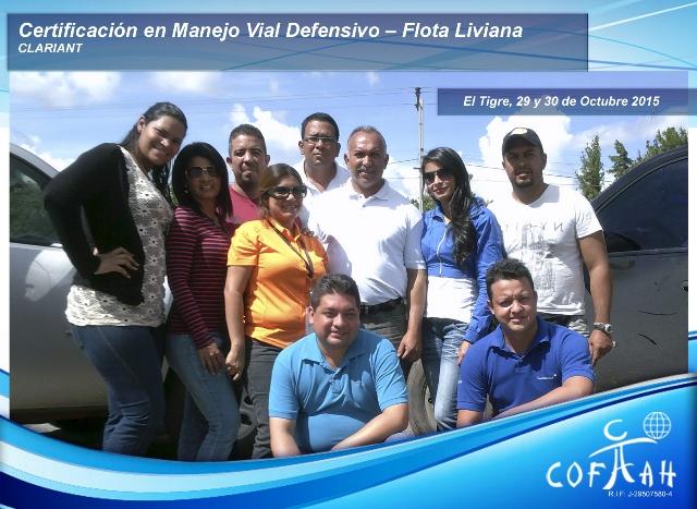 Certificación en Manejo Vial Defensivo - Flota LIviana (CLARIANT) El Tigre