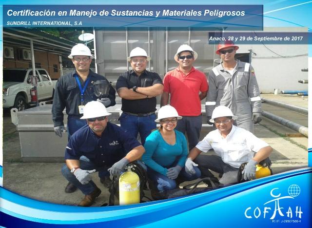 Certificación en Manejo de Sustancias y Materiales Peligrosos (SUNDRILL) Anaco
