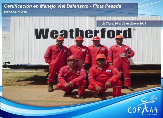 Certificación en Manejo Vial Defensivo - Flota Pesada (WEATHERFORD) El Tigre