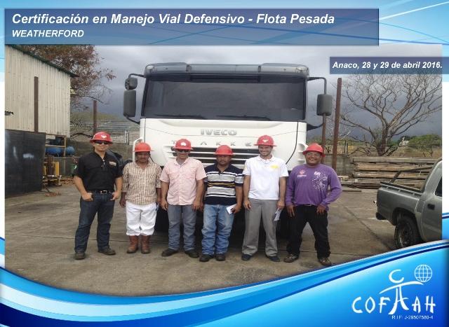Certificación en Manejo Vial Defensivo - Flota Pesada (WEATHERFORD) Anaco