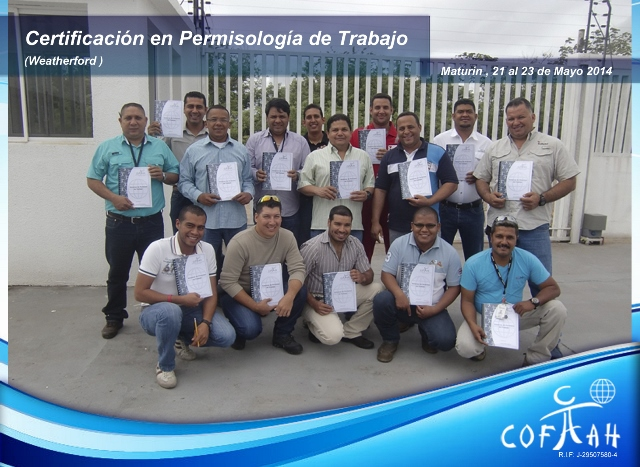 Certificación en Permisología de Trabajo (WEATHERFORD) Maturín