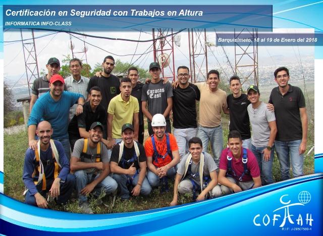 Certificación en Seguridad con Trabajos en Altura - Telecomunicaciones (INFORMATICA Info-Class) Barquisimeto
