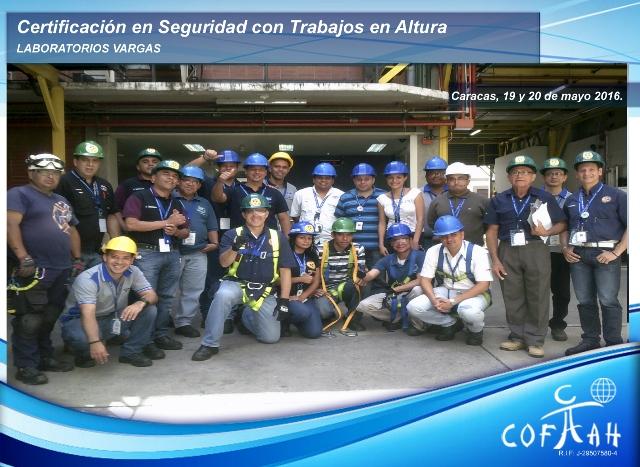 Certificación en Seguridad con Trabajos en Altura (LABORATORIOS VARGAS) Caracas