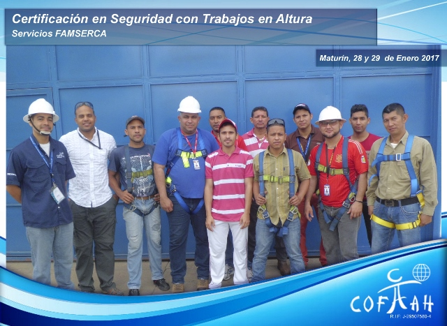Certificación en Seguridad con Trabajos en Altura (Servicios FAMSERCA) Maturin