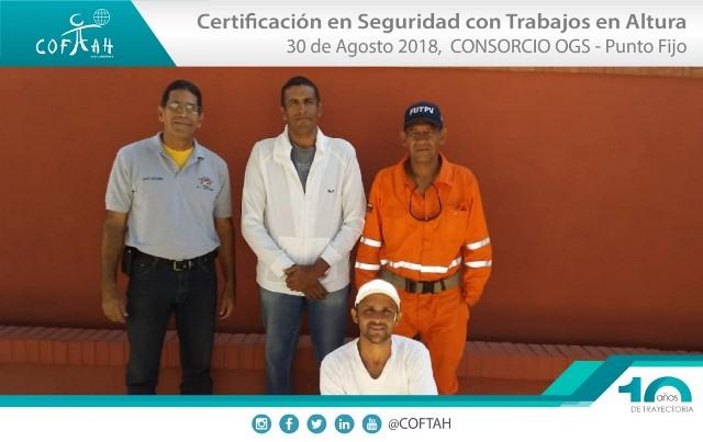 Certificación en Seguridad con Trabajos en Altura (OGS) Punto Fijo