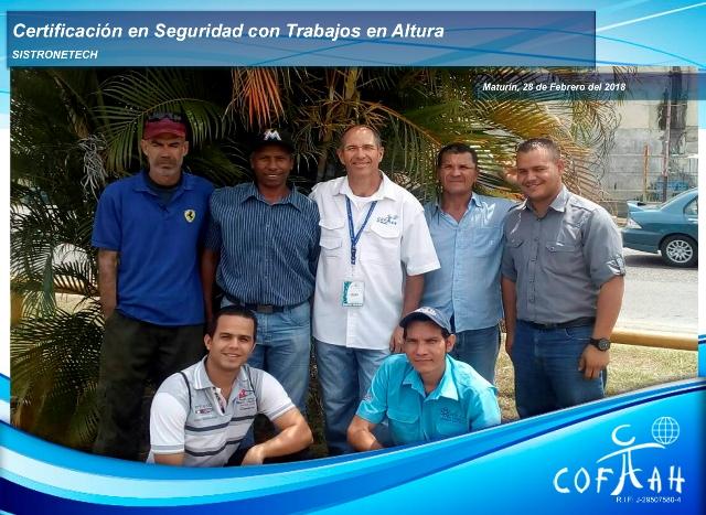 Certificación en Seguridad con Trabajos en Altura (SISTRONETECH) Maturín