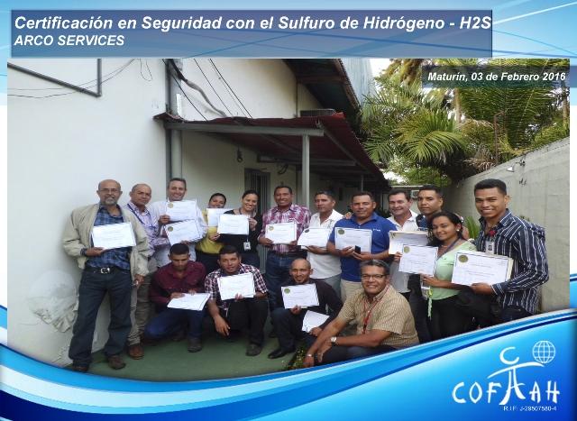 Certificación en Seguridad con el Sulfuro de Hidrógeno (ARCO Services) Maturín