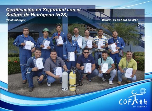 Certificación en Seguridad con el Sulfuro de Hidrógeno H2S (SCHLUMBERGER) Maturín