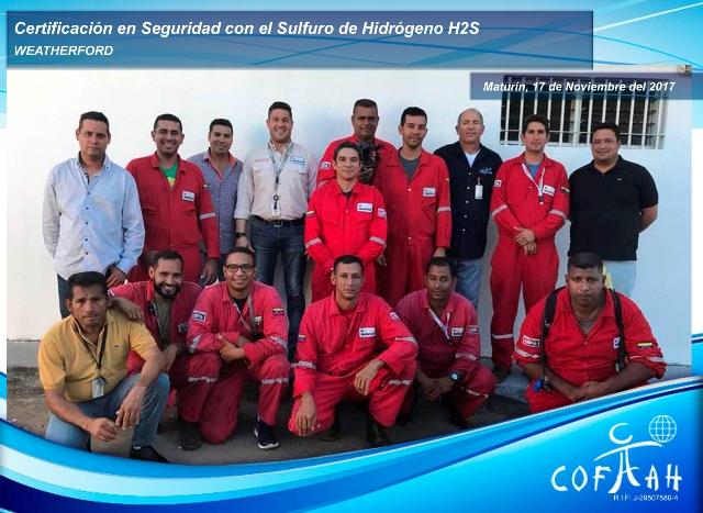 Certificación en Seguridad con el Sulfuro de Hidrógeno (WEATHERFORD) Maturín