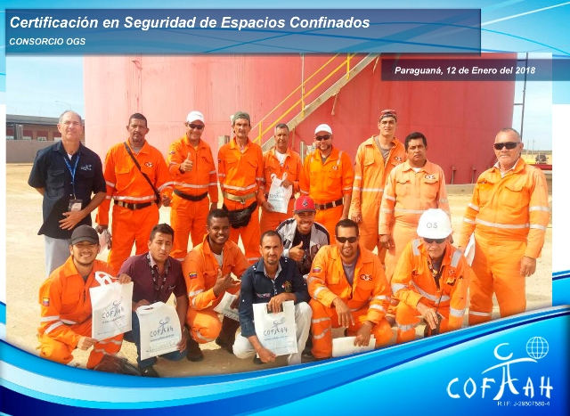 Certificación en Seguridad en Espacios Confinados (Consorcio OGS) Paraguaná