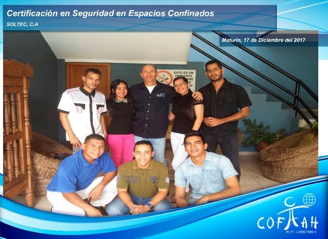 Certificación en Seguridad en Espacios Confinados (SOLTEC) Maturín