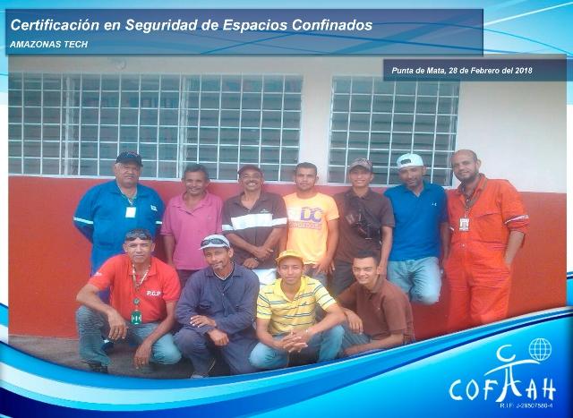 Certificación en Seguridad de Espacios Confinados (AMAZONAS TECH) Punta de Mata