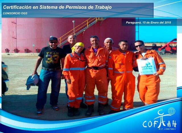 Certificación en Sistema de Permisos de Trabajo (Consorcio OGS) Paraguaná -