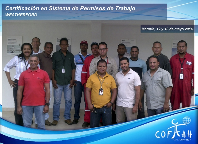 Certificación en Sistema de Permisos de Trabajo (WEATHERFORD) Maturín