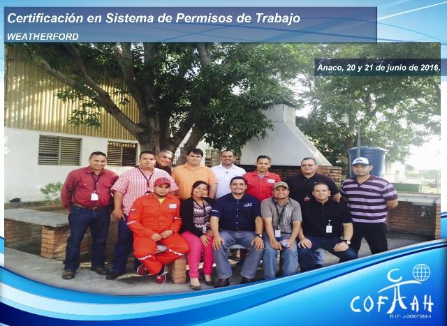 Certificación en Sistema de Permisos de Trabajo (WEATHERFORD) Anaco