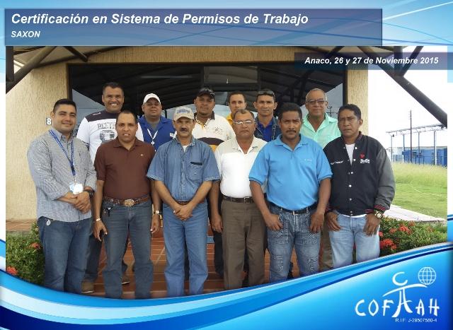 Certificación en Sistema de Permisos de Trabajo (SAXON) Anaco