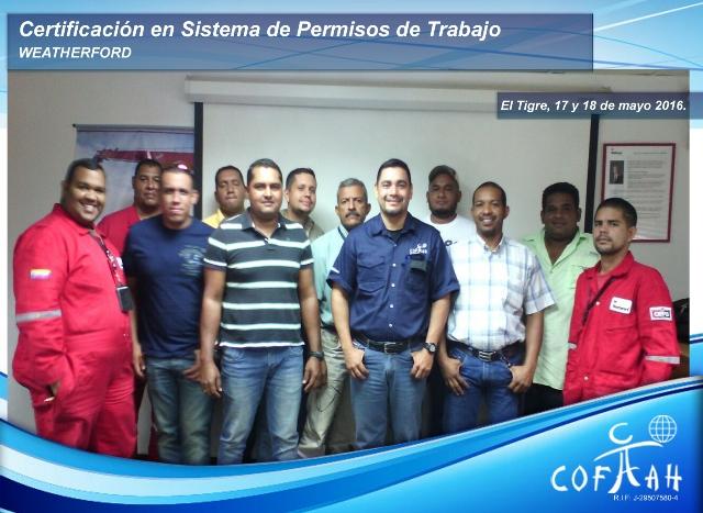 Certificación en Sistema de Permisos de Trabajo (WEATHERFORD) El Tigre