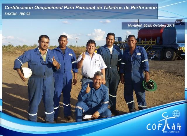 Certificación Ocupacional para Personal de Taladros de Perforación (SAXON) Morichal