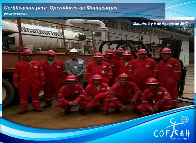 Certificación para Operadores de Montacargas (WEATHERFORD) Maturín