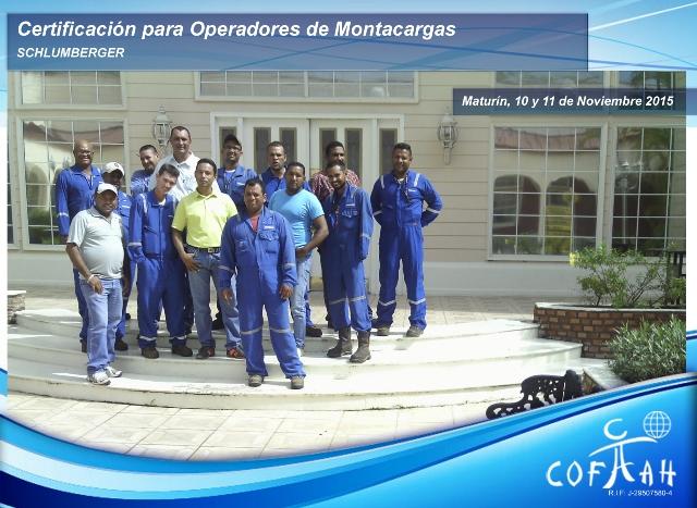 Certificación para Operadores de Montacargas (SCHLUMBERGER) Maturín