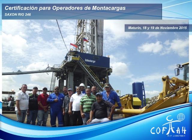 Certificación para Operadores de Montacargas (SAXON) Maturín