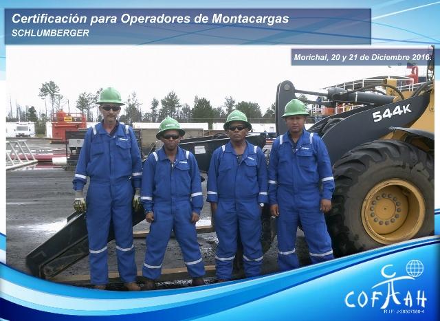 Certificación para Operadores de Montacargas (SCHLUMBERGER) Morichal