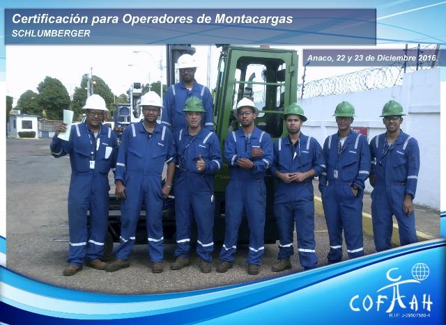 Certificación para Operadores de Montacargas (SCHLUMBERGER) Anaco