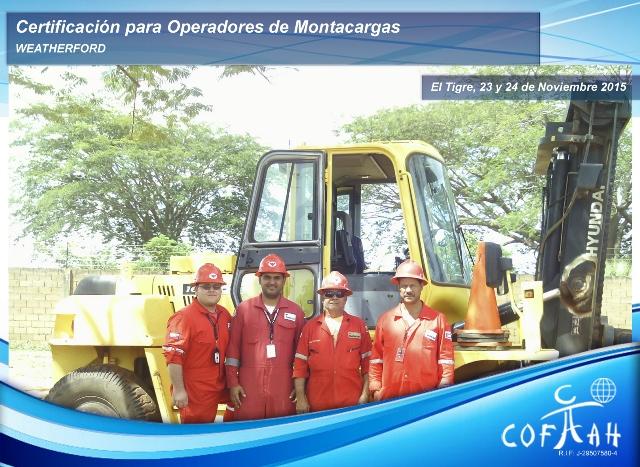Certificación para Operadoresde Montacargas (WEATHERFORD) El Tigre