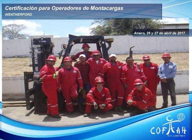 Certificación para Operadores de Montacargas (WEATHERFORD) Anaco -
