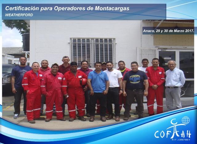 Certificación para Operadores de Montarcargas (WEATHERFORD) Anaco