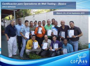 Certificación para Operadores de Well Testing - Básico (ARCO Services) Maturín