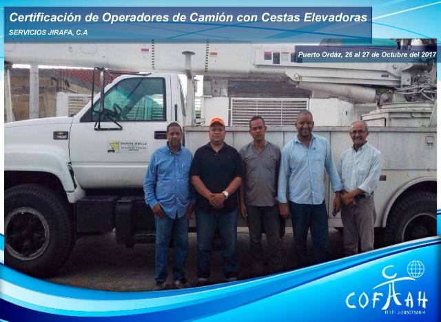 Certificación de Operadores de Camión con Cestas Elevadoras (SERVICIOS Jirafa) Puerto Ordaz