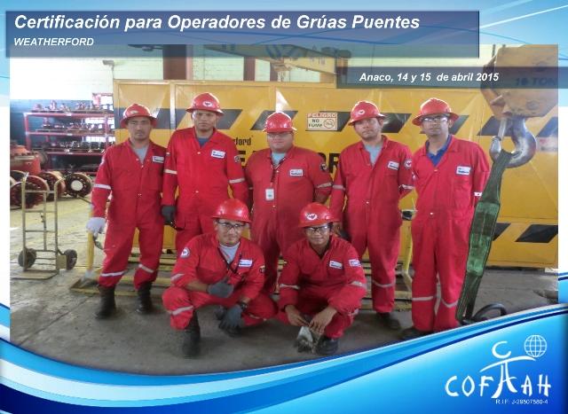 Certificación para Operadores de Grúas Puentes (WEATHERFORD) Anaco