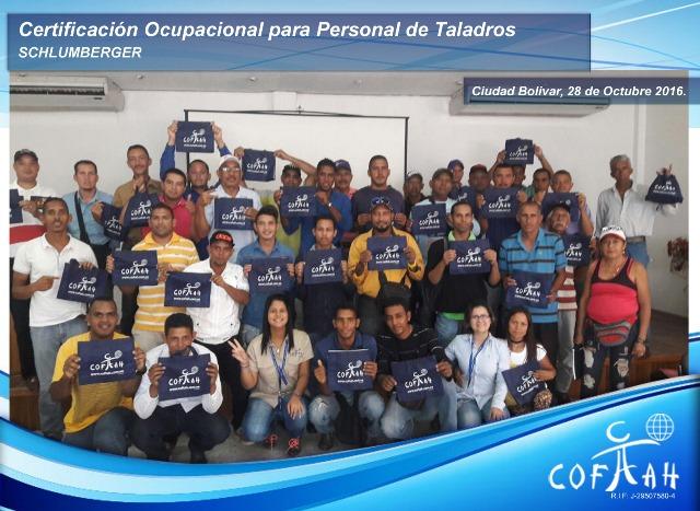 Certificación Ocupacional para Personal de Taladros (SCHLUMBERGER) Ciudad Bolívar -