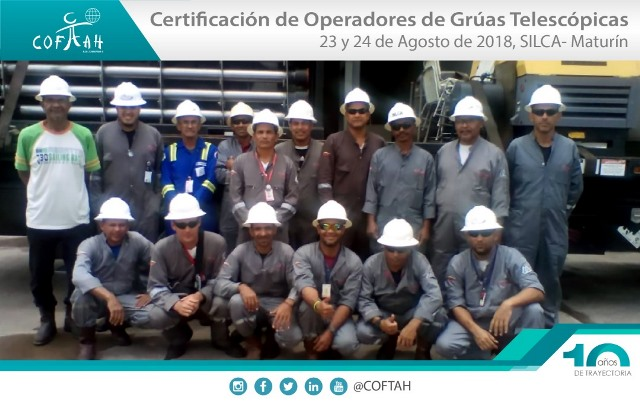 Certificación de Operadores de Grúas Telescópicas (SILCA) Maturín